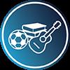 Sport, vzdělávání a hudba